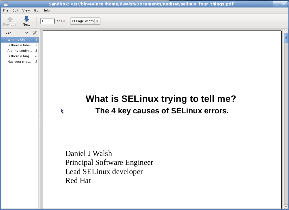 Cool things with SELinux    Introducing sandbox -X: danwalsh